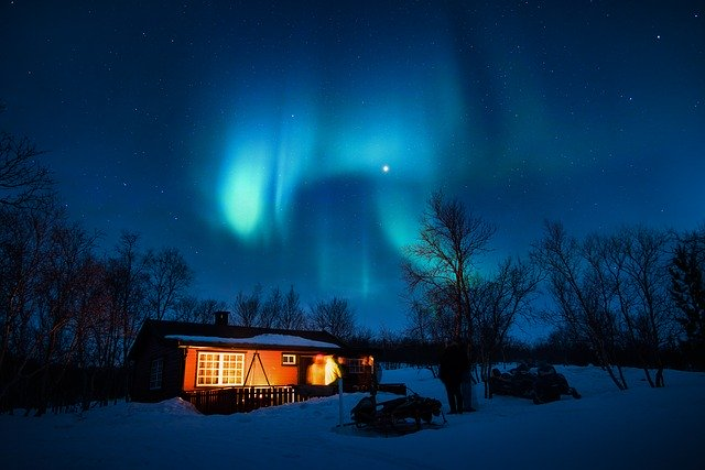 Libra October 2020, aurora, night sky